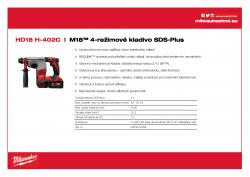 MILWAUKEE HD18 H M18™ 4-režimové kladivo SDS-Plus 4933443468 A4 PDF