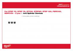 MILWAUKEE Anti Splinter Devices  4931449320 A4 PDF