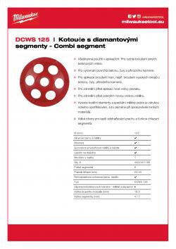MILWAUKEE Combi-segment diamond cup wheels PCD segment pro odstranění speciálních látek: termoplast a epoxidových nátěrů na bázi akrylových barev, lepidla, stěrky, omítky. 4932451188 A4 PDF