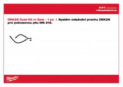MILWAUKEE Dust extraction hood for MS 216 Systém odsávání prachu pro šikmou pilu MS216. 4932430005 A4 PDF