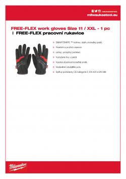 MILWAUKEE FREE-FLEX work gloves Velikost 11/XXL 48229714 A4 PDF