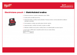 MILWAUKEE Electricians pouch Elektrikářská brašna 48228112 A4 PDF