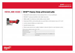 MILWAUKEE HD18 JSB M18™ Heavy Duty přímočará pila 4933426660 A4 PDF
