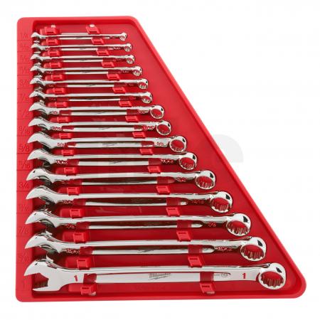 MILWAUKEE Sada kombinovaných klíčů 15ks INCH 48229415