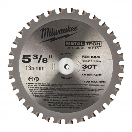 MILWAUKEE Pilový kotouč na kov 135/20/30z 48404070
