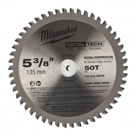 MILWAUKEE Pilový kotouč na kov 135/20/50z 48404075