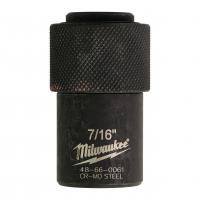 """MILWAUKEE Adaptér 1/2"""" čtverec na 7/16"""" a Hex 11 mm 48660061"""