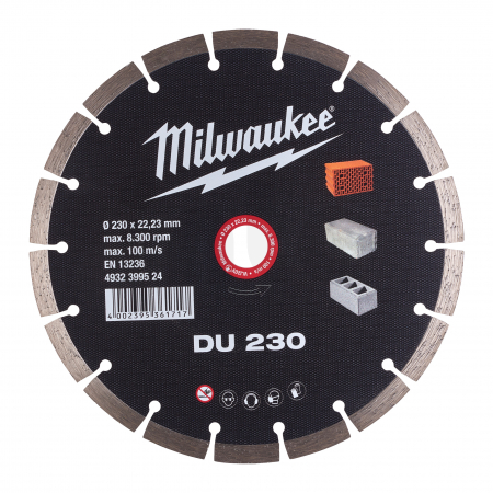 MILWAUKEE Diamantový kotouč  DU 230 x 22,2 mm 4932399524
