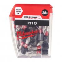 MILWAUKEE Šroubovací bity ShW PZ1 25mm-25ks 4932430861