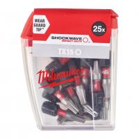 MILWAUKEE Šroubovací bity ShW TX15 25mm-25ks 4932430873