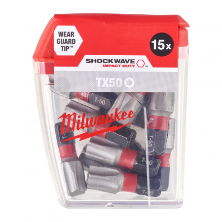 MILWAUKEE Šroubovací bity ShW TX50 25mm-15ks 4932430892