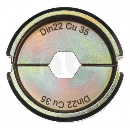 MILWAUKEE  - Krimpovací čelisti  DIN22 Cu 35 4932451746