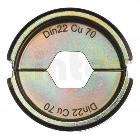 MILWAUKEE  - Krimpovací čelisti  DIN22 Cu 70 4932451748