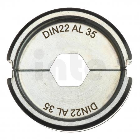 MILWAUKEE  - Krimpovací čelisti  DIN22 AL 35 4932451772