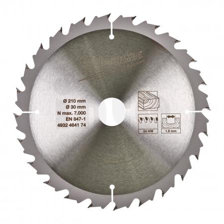 MILWAUKEE Circular saw blades for table saws Gen II CSB MS W 210 x 30 x 1.9 x 24ATB 4932464174