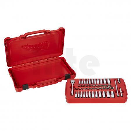 MILWAUKEE Sada ráčny 1/4˝ a metrických a palcových nástrčných klíčů (50 ks) 4932464944