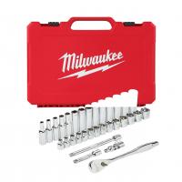 MILWAUKEE Sada ráčny 3/8˝ a metrických nástrčných klíčů (32 ks) 4932464945
