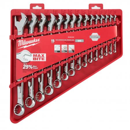 MILWAUKEE Sada kombinovaných klíčů MAX BITEs coulovými mírami (15 ks) 4932464996