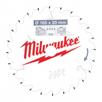 MILWAUKEE Pilový kotouč dřevo 165X20X2.2X24ATB 4932471294