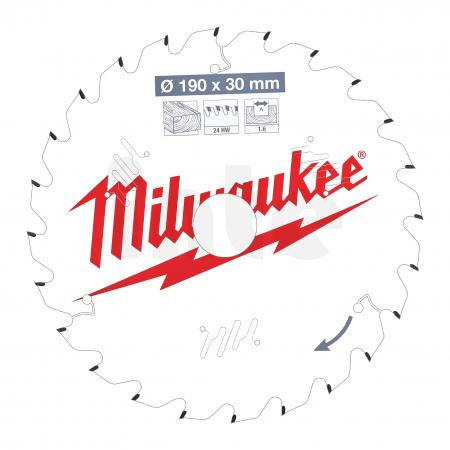MILWAUKEE Pilový kotouč dřevo 190X30X1.6X24ATB 4932471300