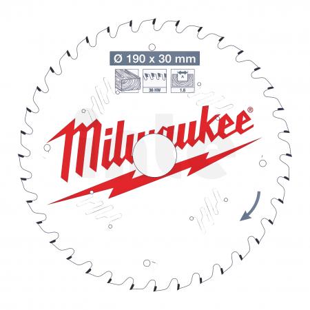 MILWAUKEE Pilový kotouč dřevo 190X30X1.6X36ATB 4932471301