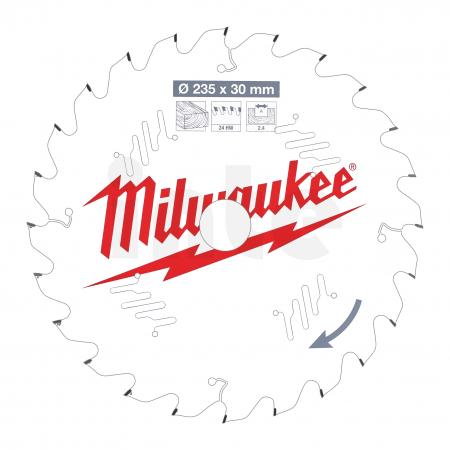 MILWAUKEE Pilový kotouč dřevo 235X30X2.4X24ATB 4932471305