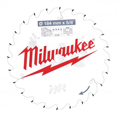 MILWAUKEE Pilový kotouč dřevo 184X5/8X1.6X24ATB 4932471378