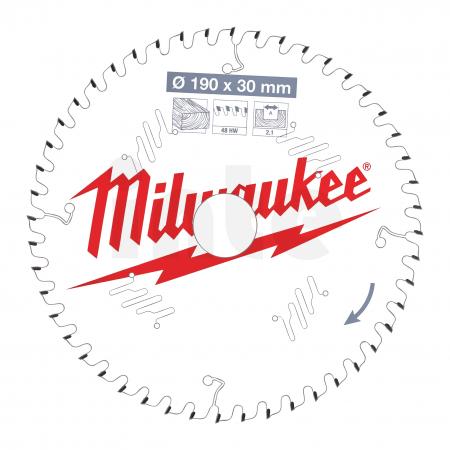 MILWAUKEE Pilový kotouč dřevo 190X30X2.1X48ATB 4932471380