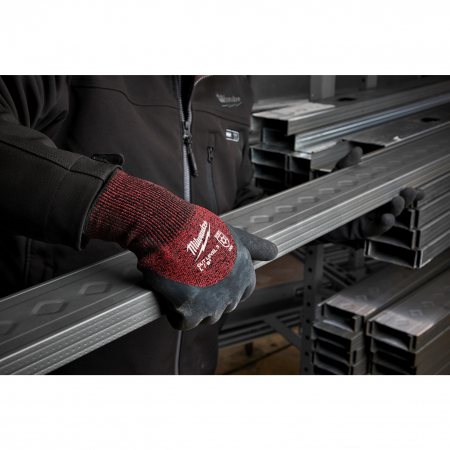 MILWAUKEE Zimní rukavice odolné proti proříznutí Stupeň 3 -  vel L/9 - 12ks  4932471611