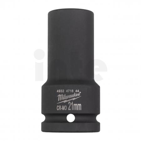 """MILWAUKEE Průmyslové hlavice Shockwave 3/4"""" HEX 21mm prodloužené 4932471644"""