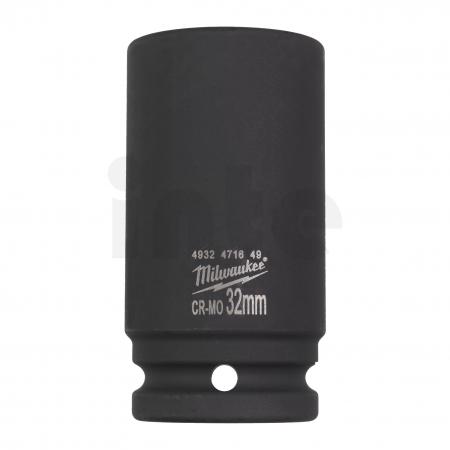 """MILWAUKEE Průmyslové hlavice Shockwave 3/4"""" HEX 32mm prodloužené 4932471649"""