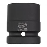 """MILWAUKEE Průmyslové hlavice Shockwave 1"""" HEX 33mm krátké 4932471666"""