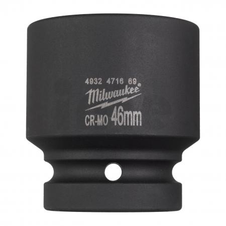 """MILWAUKEE Průmyslové hlavice Shockwave 1"""" HEX 46mm krátké 4932471669"""