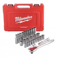 MILWAUKEE Sada ráčny 1/2˝ a metrických nástrčných klíčů 4932471864