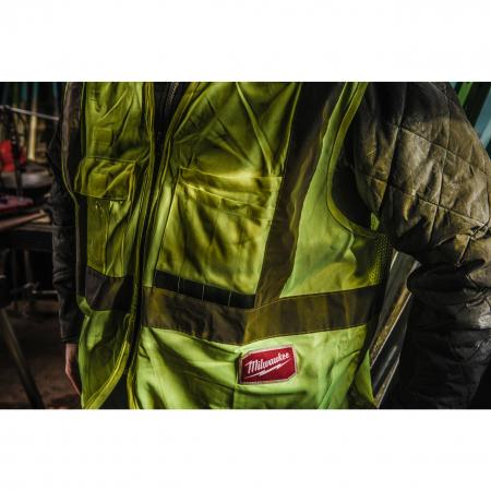 MILWAUKEE Výstražná vesta s vysokou viditelností oranžová - 2XL/3XL 4932471894