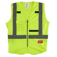 MILWAUKEE Výstražná vesta s vysokou viditelností žlutá - S/M 4932471889