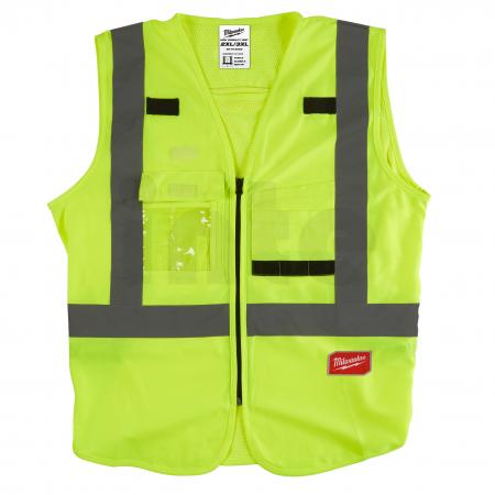 MILWAUKEE Výstražná vesta s vysokou viditelností žlutá - 2XL/3XL 4932471891