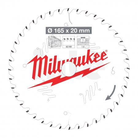 MILWAUKEE Pilový kotouč dřevo 165x20x1.6x40ATB 4932471932