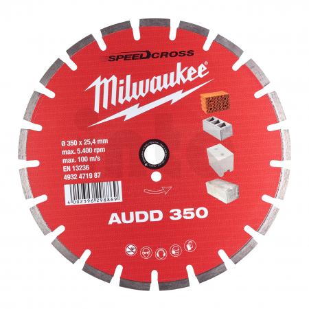 MILWAUKEE Diamantový kotouč AUDD 350 - 1ks 4932471987