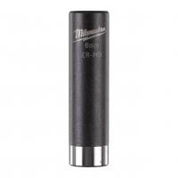 """MILWAUKEE Průmyslové hlavice Shockwave 1/4"""" HEX 8mm prodloužené 4932478002"""