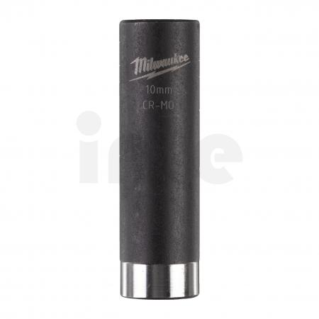 """MILWAUKEE Průmyslové hlavice Shockwave 1/4"""" HEX 10mm prodloužené 4932478004"""