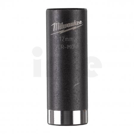 """MILWAUKEE Průmyslové hlavice Shockwave 1/4"""" HEX 12mm prodloužené 4932478006"""