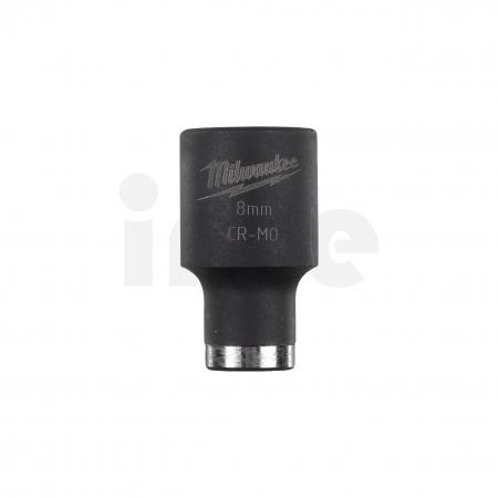 """MILWAUKEE Průmyslové hlavice Shockwave 3/8"""" HEX 8mm krátké 4932478008"""