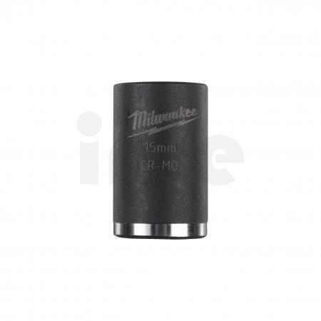 """MILWAUKEE Průmyslové hlavice Shockwave 3/8"""" HEX 15mm krátké 4932478014"""