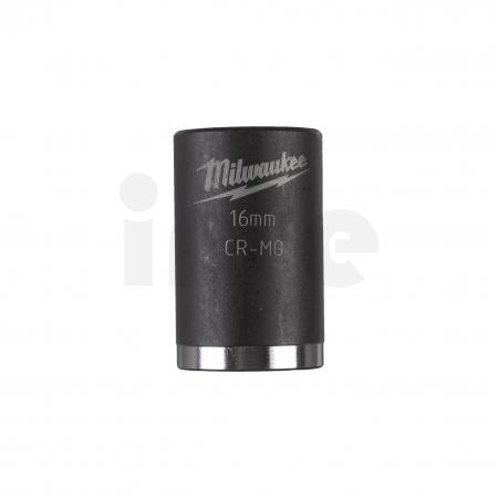 """MILWAUKEE Průmyslové hlavice Shockwave 3/8"""" HEX 16mm krátké 4932478015"""