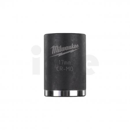 """MILWAUKEE Průmyslové hlavice Shockwave 3/8"""" HEX 17mm krátké 4932478016"""