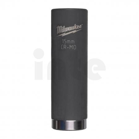 """MILWAUKEE Průmyslové hlavice Shockwave 3/8"""" HEX 15mm prodloužené 4932478027"""
