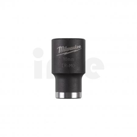 """MILWAUKEE Průmyslové hlavice Shockwave 1/2"""" HEX 10mm krátké 4932478035"""