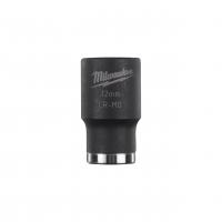 """MILWAUKEE Průmyslové hlavice Shockwave 1/2"""" HEX 12mm krátké 4932478037"""