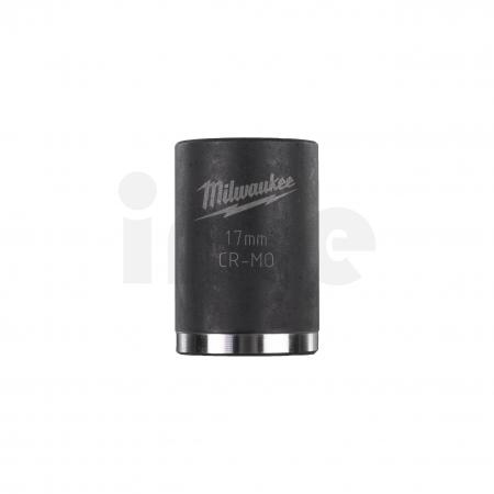 """MILWAUKEE Průmyslové hlavice Shockwave 1/2"""" HEX 17mm krátké 4932478042"""